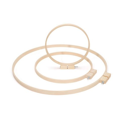 Bulk Buy: Darice DIY Crafts Wood Quilting Hoops Round 14 inches (6-Pack) 3979