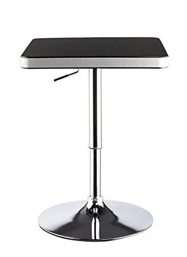 Duhome-0181-Design-Bartisch-in-SCHWARZSILBER-Stehtisch-Bistrotisch-hhenverstellbar