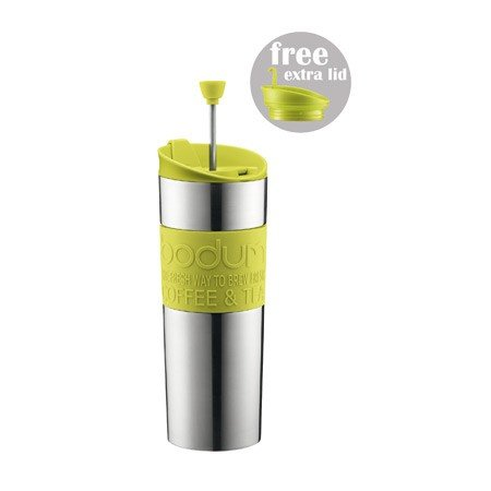 Bodum Insulated Stainless Steel Travel French Press with Off-White Accents, 15 Ounce (Travel French Press Bodum compare prices)