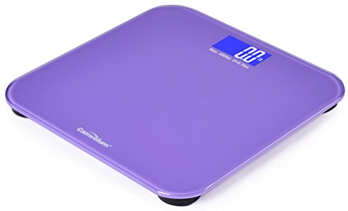 "Canwelum Upper-Class Fashionable ""Smart Step-On & Auto-Off"" Precision Digital Bathroom Scale, Body Weight Scale, Digital Body Scale With Large Blue Backlight Lcd Display (Purple)"