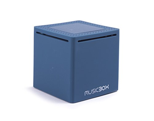music box mini ultra portable bluetooth speaker blue home garden decor boxes. Black Bedroom Furniture Sets. Home Design Ideas