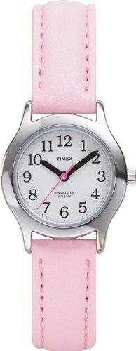 Timex Kids' T79081 My First Timex Pink Leather Strap Watch