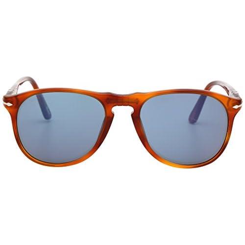 Persol Men's PO 9649S 9649 Aviator Sunglasses