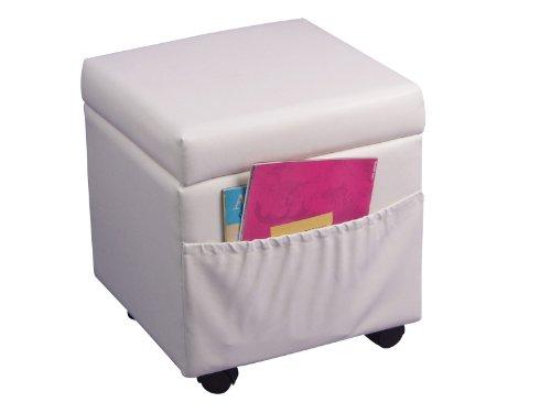 sitzhocker mit rollen und stauraum wei 4447 w preisvergleich g nstig kaufen bei. Black Bedroom Furniture Sets. Home Design Ideas