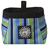 Planet Dog Large Travel Food and Water Bowl, Blue Stripe