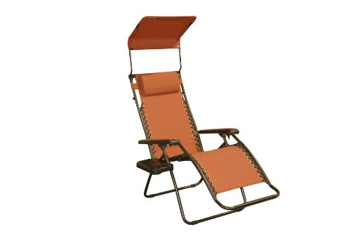 Bliss Hammocks GFC-439TC Gravity Free Recliner with Sun Shade and Drink Tray