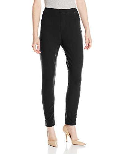 Caribbean Joe Women's Pull On Ankle Pant, Black, Medium/Petite (Caribbean Joe Pants compare prices)