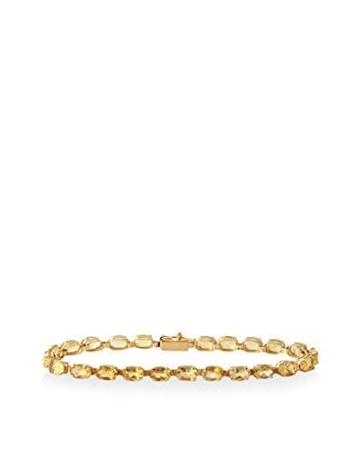 Fashion Strada 14K Yellow Gold & Citrine Line Bracelet
