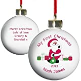 Personalised Bauble - Baby's First Christmas