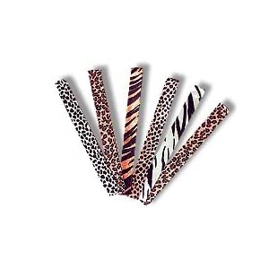 12 animal print slap bracelets - party favor toy bracelet set