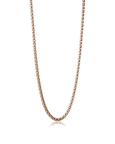 Blackjack Brushed 18K Rose Gold Plated Stainless Steel 24″ Round Box Chain