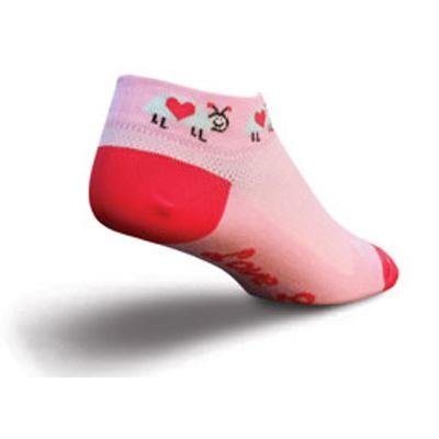 Image of SockGuy Women's 1in Love Bug Valentines Day Limited Edition Cycling/Running Socks (B007039CXG)
