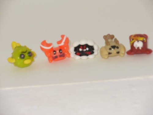 SEA MANIA 2- Complete Set of 5 SUPER RARE SQWABBLES Squishies W/ GAME CODES FOR SQWISHLAND WEBSITE