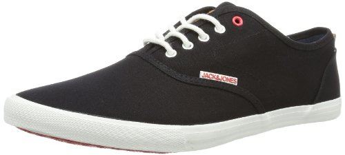 Jack and Jones Mens JJ Spider Low-Top 12065507 Black 8 UK, 42 EU