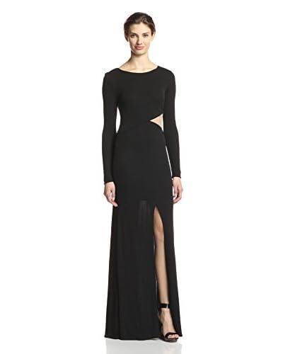 A.B.S. by Allen Schwartz Women's Mesh Inset Gown