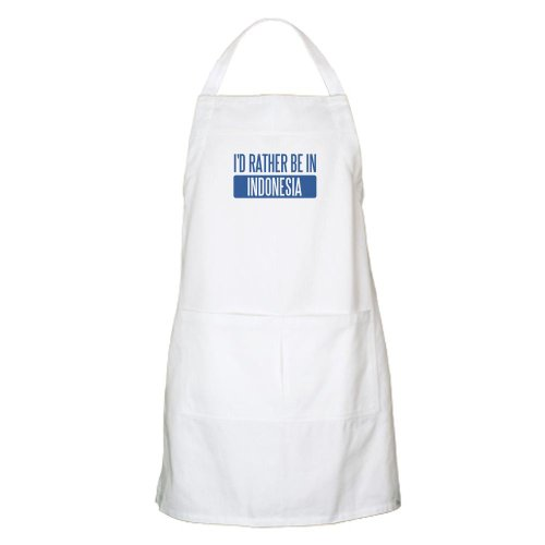 Cafepress I'D Rather Be In Indonesia BBQ Apron - Standard