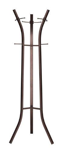 Kings Brand Bronze Finish Metal Coat Rack & Hat Stand