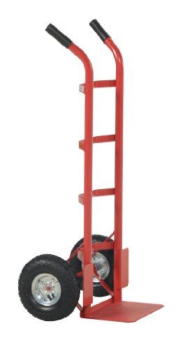 Vestil DHHT-500S Steel Hand Truck with Dual Handle, Pneumatic Wheels, 500 lbs Load Capacity, 44-1/2″ Height, 22-1/2″ Width X 17-1/2″ Depth