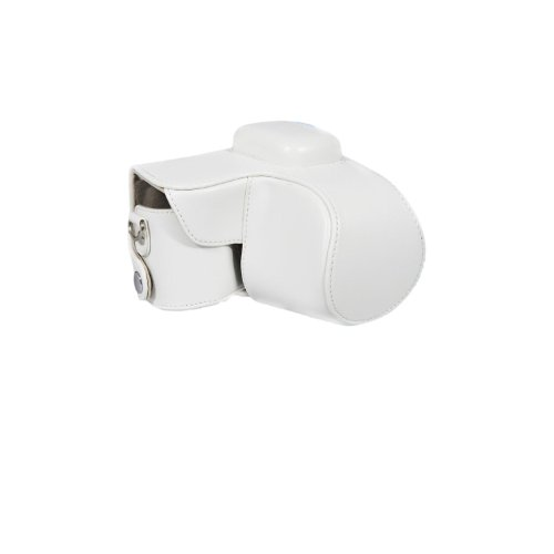 Protective Case Bag Cover Protector for Samsung NX1000 Camera / 20-50mm Lens / White / With Strap / Durable
