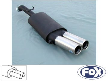 - 1992 1.8 1985 FOX muffler VW051012-068 Volkswagen Golf 2 GTi-1...