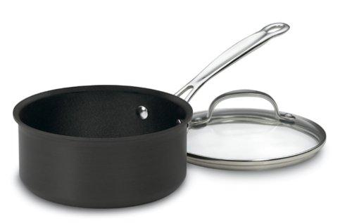 Cuisinart 619-18 Chef's Classic Nonstick Hard-Anodized 2-Quart Saucepan with Lid (2 Quart Cuisinart Saucepan compare prices)