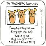 Edward Monkton Madness Hamsters Coaster