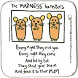 Edward Monkton Madness Hamsters Coaster