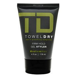Towel Dry Firm Hold Gel Styler for Men, 4 Ounce