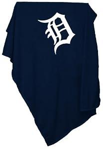 Detroit Tigers Sweatshirt Blanket by Logo