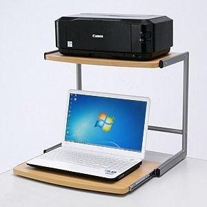 サンワダイレクト ノートパソコン机上ラック スライダー付 100-MR034