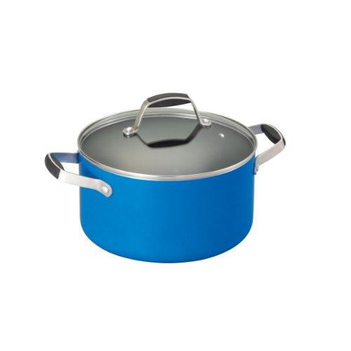 Guy Fieri 5099812 Nonstick Dutch Oven, 5-1/2-Quart, Blue front-239839