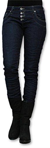 Please-Jeans slim vita bassa push-up scuro blu Medium