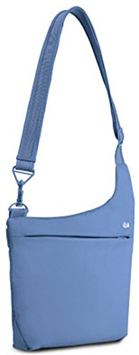B00776EF7E Pacsafe Luggage SlingSafe 200 Gii Cross Body Shoulder Bag, Sky Blue, Large