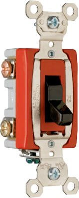 Pass & Seymour Ps20Ac3 Grounding Heavy Duty 3-Way-Toggle Switch, 20-Amp, Brown