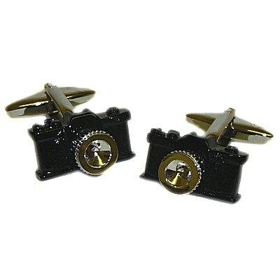 Novelty Black Camera Cufflinks