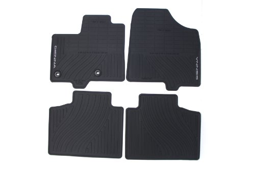 Genuine Toyota Accessories PT908-08130-20 Front and Rear All-Weather Floor Mat (Black), Set of 8