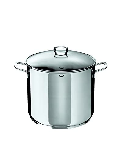 Silit 12-Qt. Covered Stainless Steel Stockpot with Lid, Silver