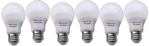 Bioluz LED A19 6-pack - 60 Watt Equivalent Soft White (2700K) Light Bulb