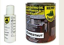 Hemp Shield Wood Finish & Deck Sealer Chestnut - 4 pack (Hemp Shield Stain compare prices)