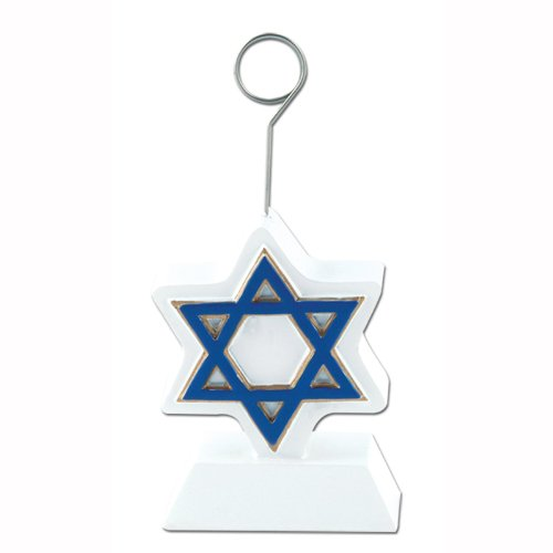 Star Of David Photo/Balloon Holder Party Accessory (1 count) (1/Pkg) - 1