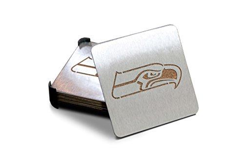 NFL Seattle Seahawks Boasters, Heavy Duty Stainless Steel Coasters, Set of 4