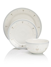 12 Piece Country Heart Dinner Set