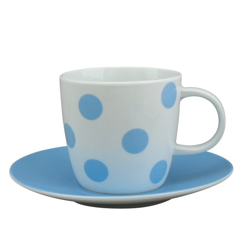 Summer Vacations 9 Ounce Cup and Saucer Set (Blue) by Loveramics