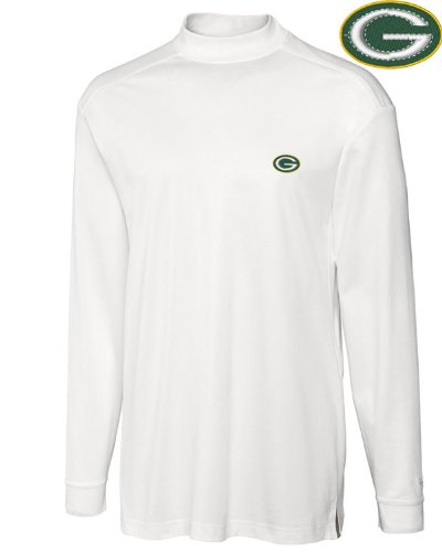 NFL Green Bay Packers Men's CB DryTec Long Sleeve Imperial Mock, Medium, White at Amazon.com