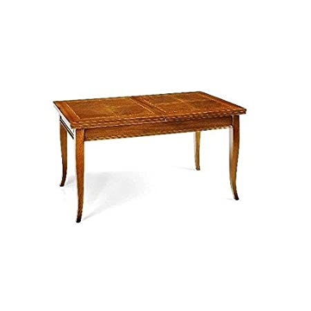 Marquetry Kitchen Living Room Extending Table – Solid As Photo