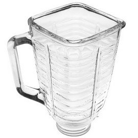 5 cup glass square top blender jar, fits Oster & Osterizer.
