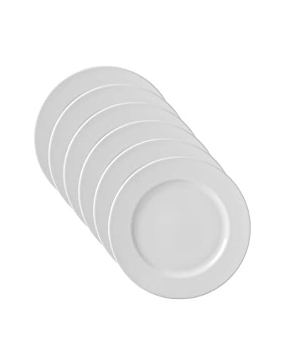 10 Strawberry Street Set of 6 Classic Plate Chargers, White