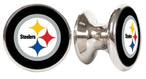 Pittsburgh Steelers NFL Stainless Steel Cabinet Knob / Drawer Pull from SteelerMania