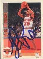 Doc Rivers New York Knicks 1993 Skybox Autographed Hand Signed Trading Card. by Hall of Fame Memorabilia