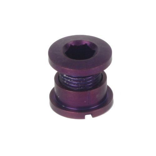 Origin8 Bicycle Single Chainring Bolts - Purple Alloy Set of 5
